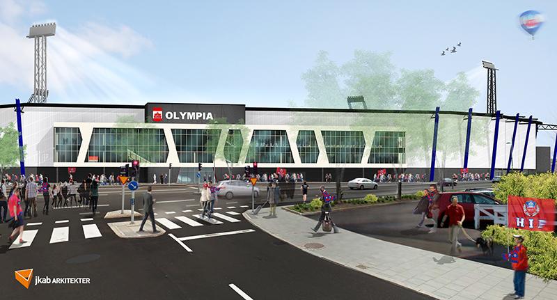 Allsvenska Helsingborgs IF s hemmaarena Olympia höjer säkerheten när den  byggs om för att ge fler sittplatser 36c2b1f9ed2aa